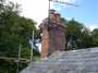 Re-pointed chimney with flue liner fitted